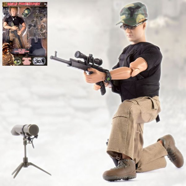 World Peacekeepers CIA SOG Special Ops Grp 12in Poseable Army Action Toy Figure